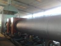 φ2m钢管防腐喷涂前加热线